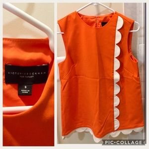 VICTORIA BECKHAM for target orange top